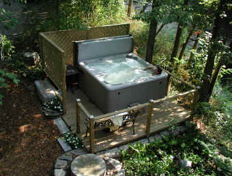 Hot Tub Next to Mill Building